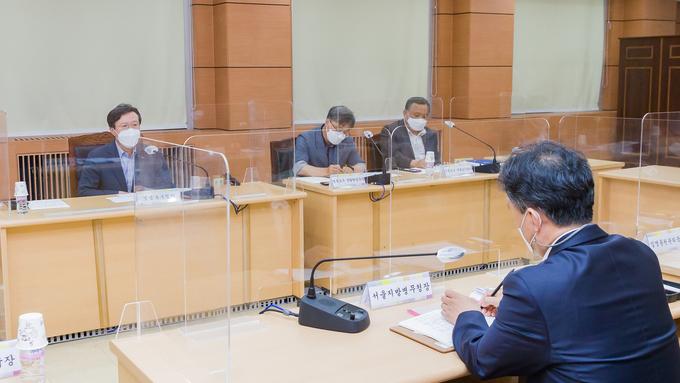 채현일 영등포구청장, 서울병무청장과 메낙골 공원 현안 논의